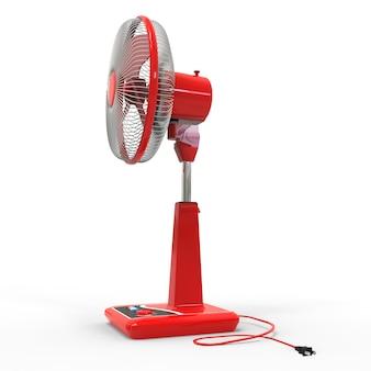 Rotes elektrisches lüftermodell mit rendering der steuertasten