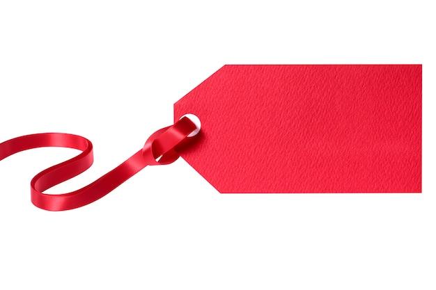 Rotes geschenk oder preisschild
