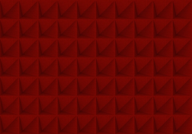 Rotes gitterquadratformmuster deckt wandhintergrund mit ziegeln.