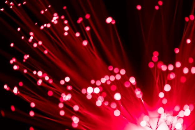 Rotes glasfaserlicht