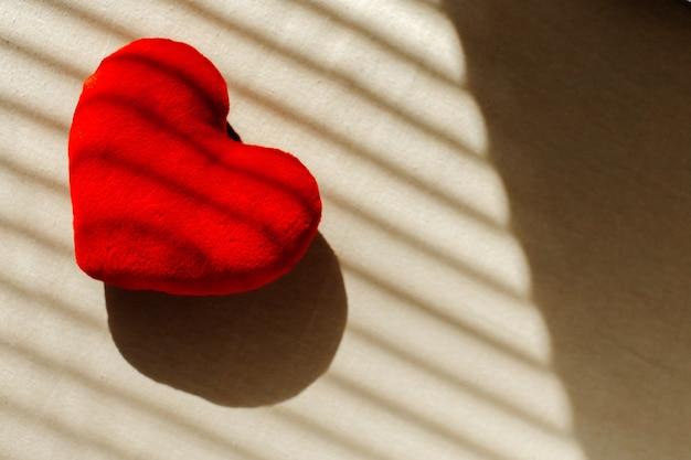Rotes herz für san valentine