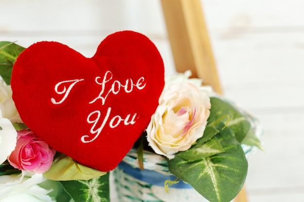 Rotes herz, ich liebe dich