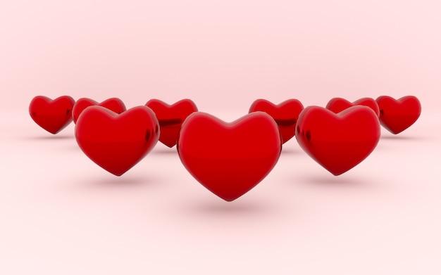 Rotes herz und valentinstag.