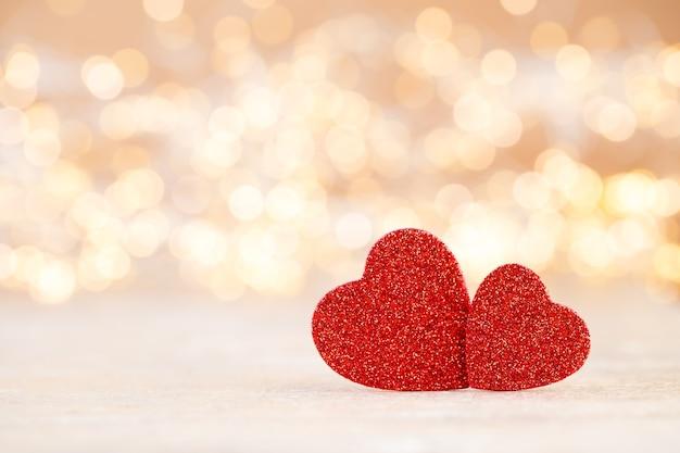 Rotes herz, valentinstag-grußkarte.