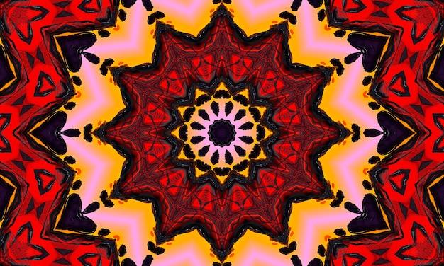 Rotes kreisförmiges wellenglühen. kaleidoskop-lichteffekt. abstrakter hintergrund für ihr unternehmen.