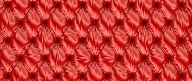 Rotes leder getuftet
