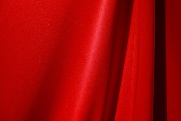 Rotes stofftuch mit schatten für hintergrund