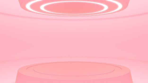 Rotes studio im futuristischen stil