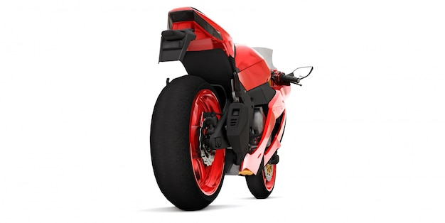 Rotes supersportmotorrad 3d