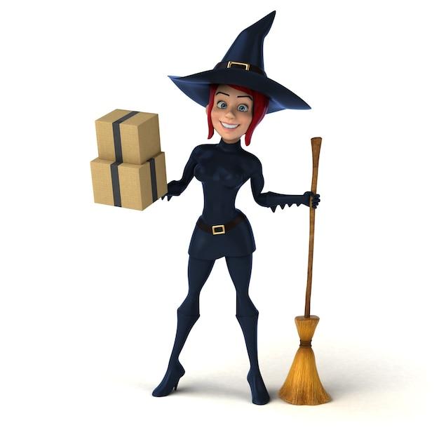 Rothaarige hexe 3d illustration