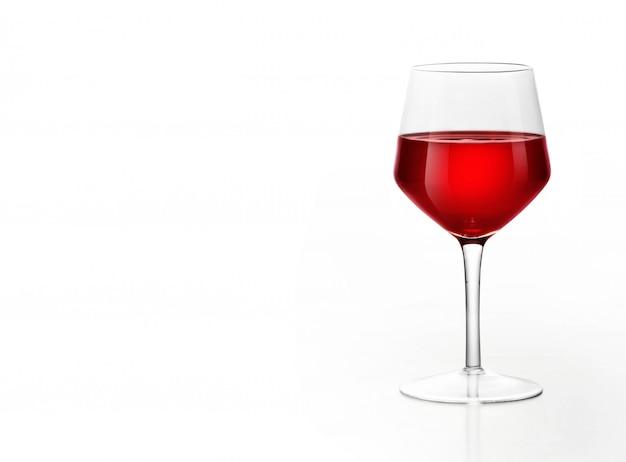 Rotwein auf weiß