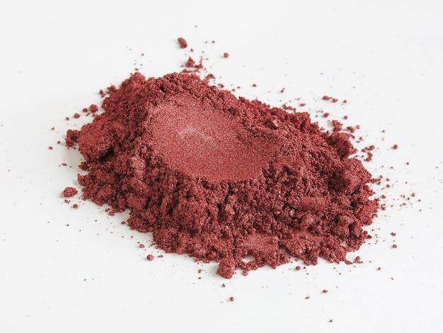 Rotwein-glimmerpigmentpulver für kosmetika