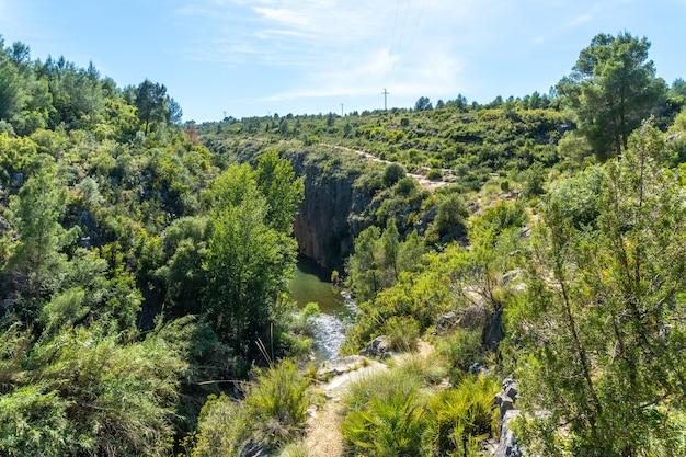 Route der pantaneros zu den hängebrücken im loriguilla-stausee