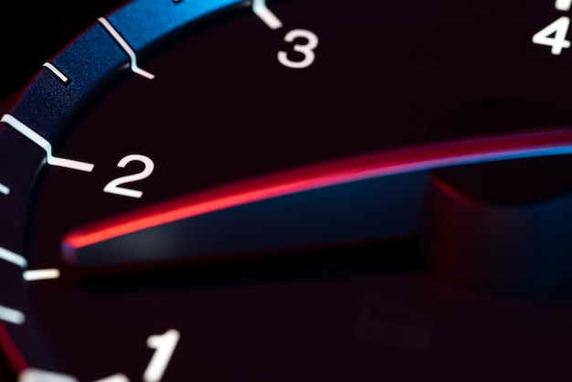 Rpm auto kilometerzähler detail symbol für leistung und geschwindigkeit