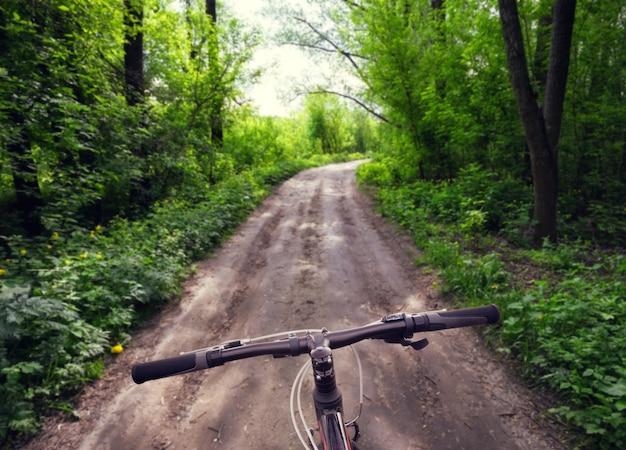Ruderrad auf landstraße