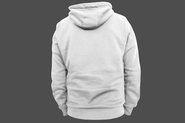 Rückseite weißer hoodie