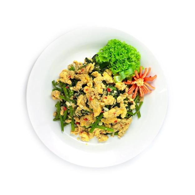 Rühren sie gebratenen chinesischen sumpf morgen groly mit ei thaicuisine fusion gesundes cleanfood und dietfood