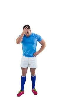 Rugbyspieler nach einem verlust