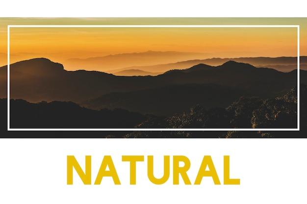 Ruhige schöne natur berg wort