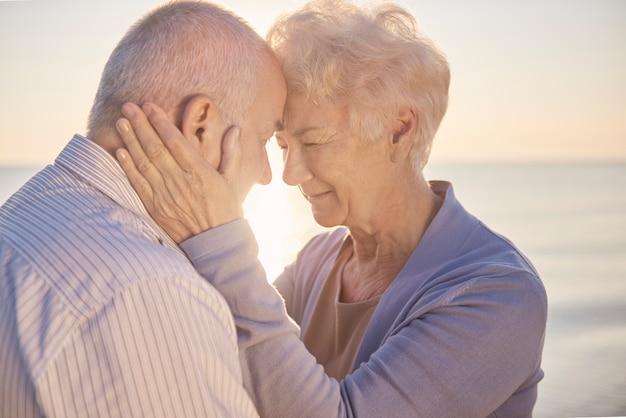 Ruhige situation der älteren ehe
