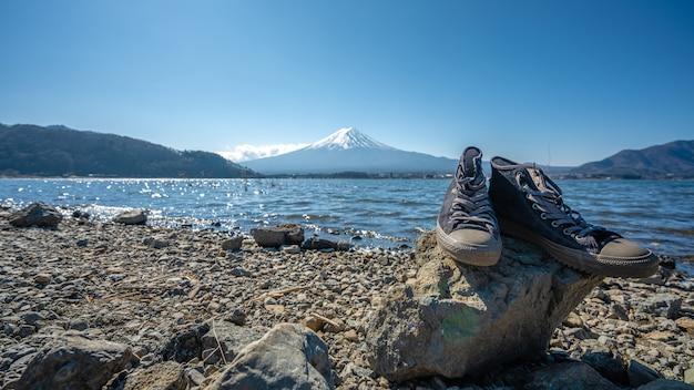 Ruhiger fuji mountain view