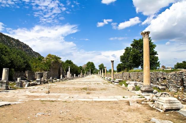 Ruinen der türkei ephesus