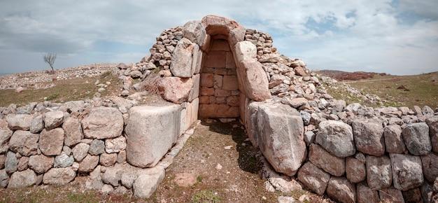 Ruinen und architektur der hethitischen zivilisation hauptstadt hattusa - corum, türkei