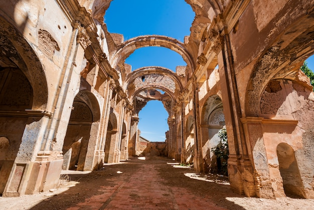 Ruinen von belchite, spanien, stadt in aragonien, das während des spanischen bürgerkriegs vollständig zerstört wurde.