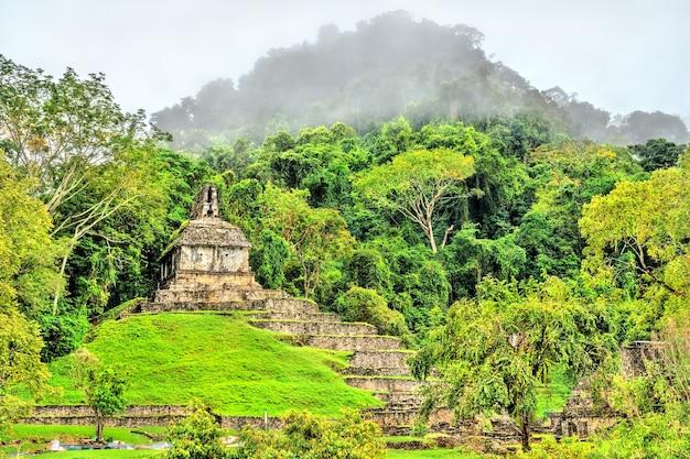 Ruinen von palenque in chiapas, einer alten maya-stadt in mexiko