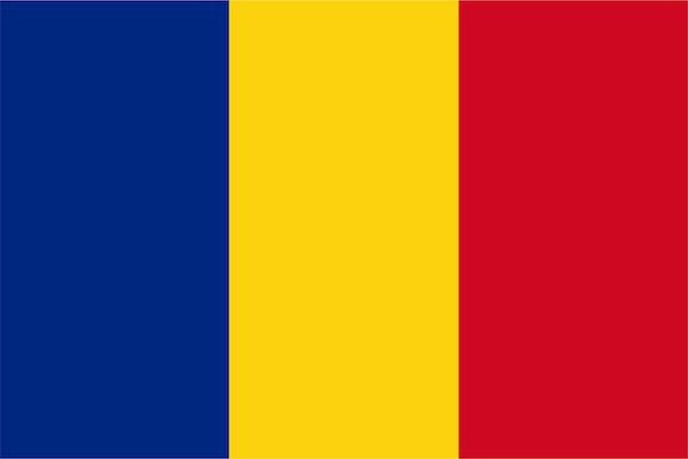Rumänische flagge von rumänien