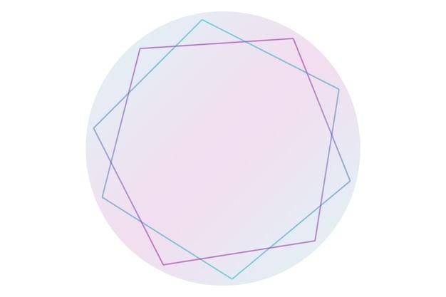 Runde abstrakte logo-hintergrundillustration mit pastellfarbenhintergrund