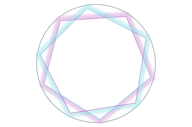 Runde abstrakte logo-hintergrundillustration mit weißem farbhintergrund