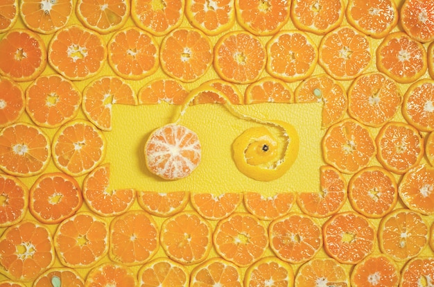 Runde orange schneidet frucht 2017 weihnachten