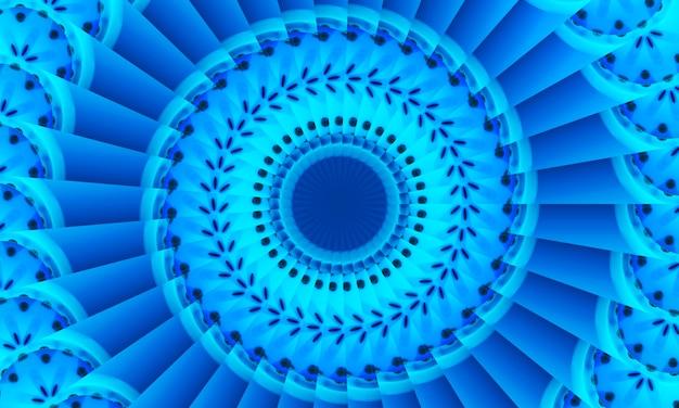 Runde punktfigur. nahtloses muster mit kreisen. abstrakter blauer hintergrund. illustration. eine gute wahl für hintergrunddisplay, website, flyer, broschüren und präsentationen im modernen stil.
