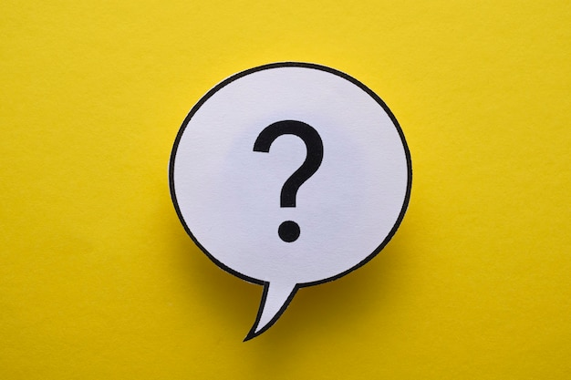 Runde rede oder gedankenblase mit fragezeichen