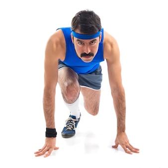 Runner bereit zu laufen