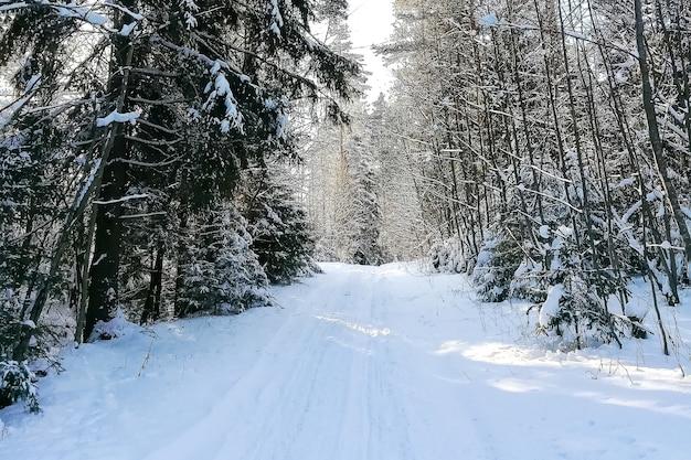 Russisches dorf im winter, im schnee