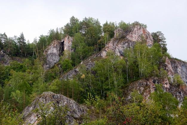 Russland, das uralgebirge. muradymovskoe-schlucht