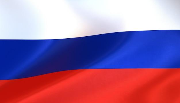 Russland-flagge rendern mit textur