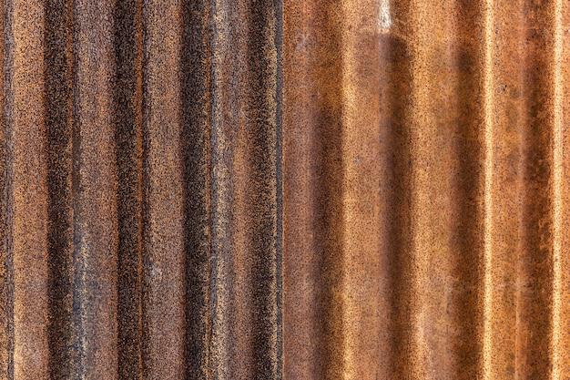 Rusted galvanisiertes eisen