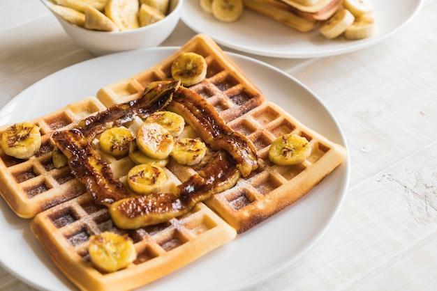 Rustikale süße bananenwaffel