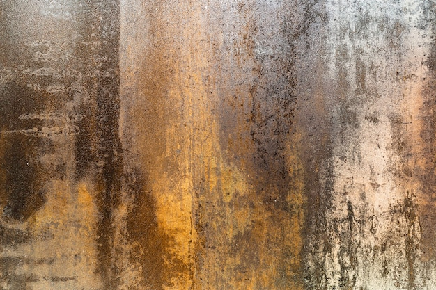 Rusty grunge strukturierter stahlplattenoberflächenhintergrund