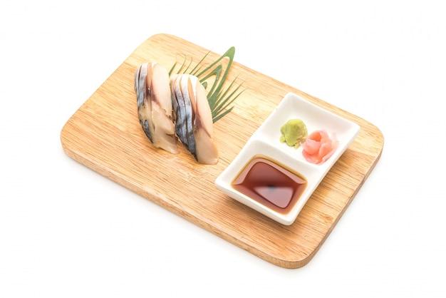 Saba nigiri sushi - japanisches essen stil