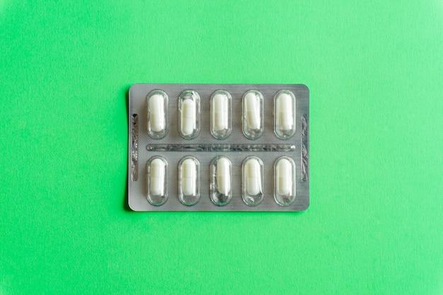 Sätze draufsicht der pillen (drogen)