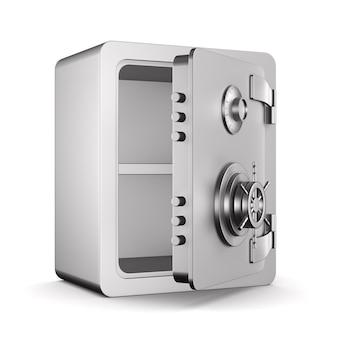 Safe öffnen. isoliertes 3d-rendering Premium Fotos