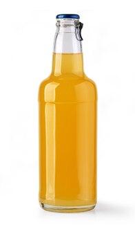 Saftflasche auf weißem hintergrund (mit beschneidungspfad)