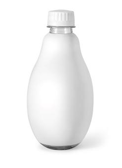 Saftflasche isoliert auf weiss mit beschneidungspfad