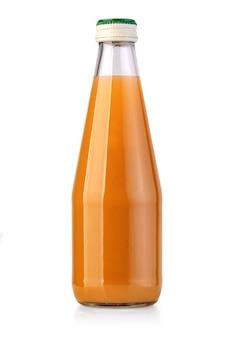 Saftflasche isoliert auf weißem hintergrund mit beschneidungspfad Premium Fotos