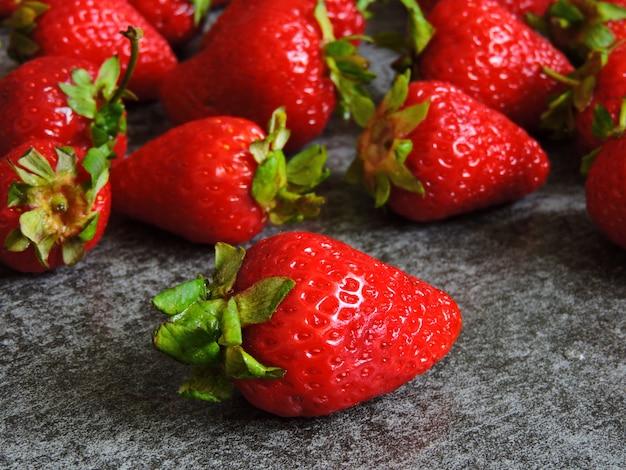 Saftige erdbeere.