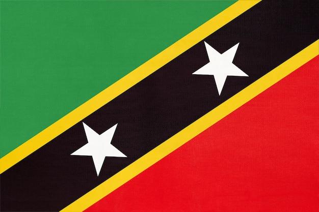 Saint kitts und nevis national stoff flagge